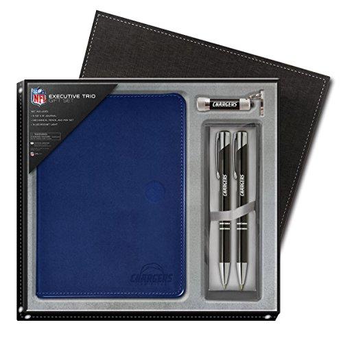 national-design-nfl-san-diego-chargers-gift-set-blue-journal-led-flashlight-keychain-mechanical-pen-