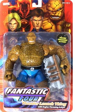 Buy Low Price Toy Biz Fantastic Four Toy Biz Action Figure Series 1 Thunder Launch Thing (B000LJMQOS)