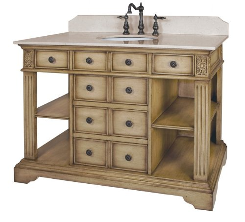 Cheap Price Belle Foret Bf80022r Single Basin Bathroom Vanity Distressed Parchment