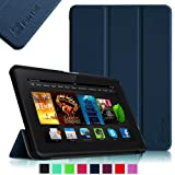 "Fintie Amazon All-New Kindle Fire HDX 7"" SmartShell Case Cover Ultra Slim Lightweight with Auto Sleep / Wake Feature - Navy"