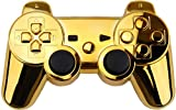 HDE Gold Chrome PS3 Sixaxis Wireless Controller Housing Shell Replacement Kit w/ Buttons
