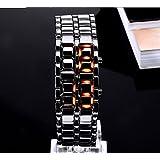 Iron Samurai Black Bracelet LED Japanese Inspired Watch - Fashion Cool Style LED Watches for Men