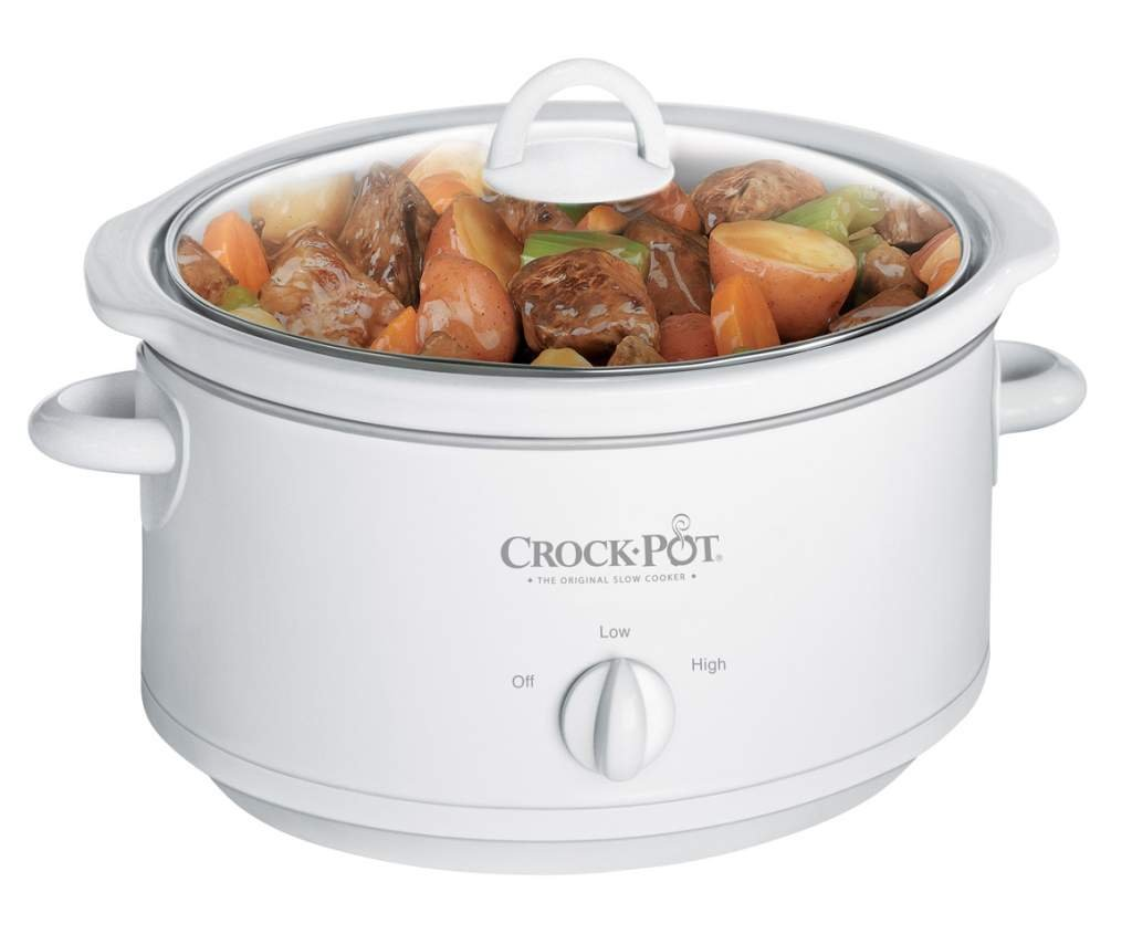Sunbeam Products 3735-WN-NP Crock Pot With Removable Crock, White, 3.5-Qt.