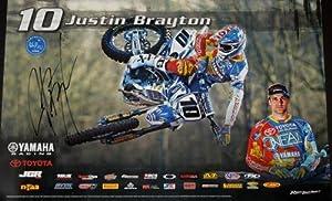 Justin Brayton Autographed Motocross AMA Supercross 11x17 Poster - Autographed UFC Photos
