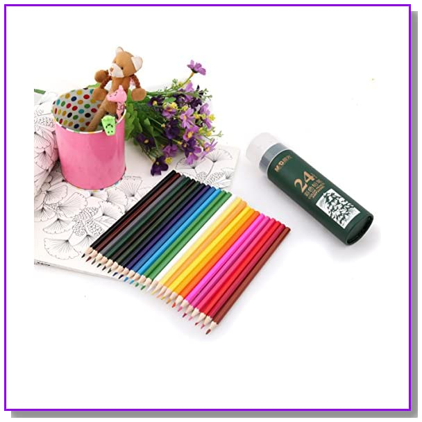 M&G 24 Color & Professional Grade Colored Pencils/ Drawing Pencils/ Sketching Pencils for Kids, Adults & Office Supplies