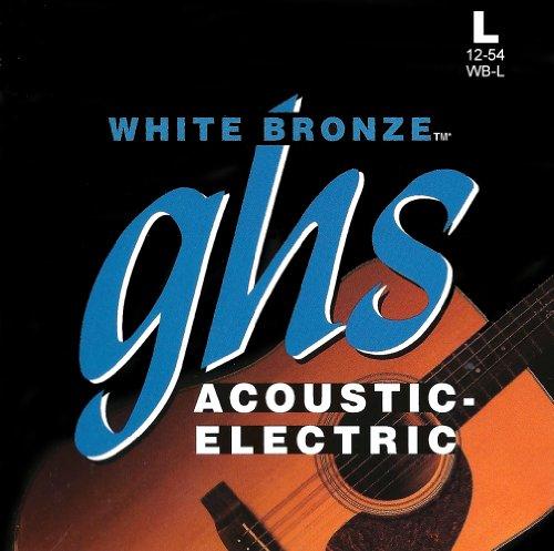 Ghs Strings Acoustic Guitar Set (Light, White Bronze, Alloy 52)
