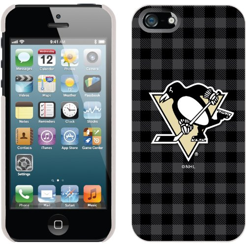 Best Price Pittsburgh Penguins« - Plaid design on a White iPhone 5s / 5 Thinshield Snap-On Case by Coveroo