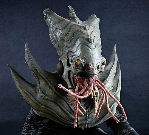 [The Nightmare Collection - Amphibious Alien Mask - One-Size] (Latex Alien Mask)