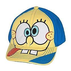 Spongebob Squarepants Tongue Face Yellow and Blue Baseball Cap
