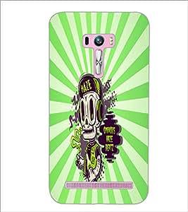 PrintDhaba Music Skull D-5851 Back Case Cover for ASUS ZENFONE SELFIE ZD551KL (Multi-Coloured)