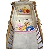 Disney Winnie the Pooh Bedtime Crib Bedding Set Beige
