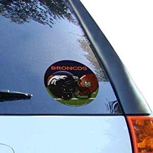 NFL Denver Broncos 4.5 Round Vinyl Decal - by Football Fanatics
