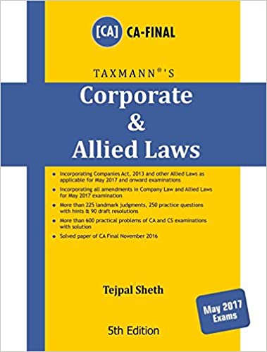 Corporate & Allied Laws - CA Final (May 2017 Exams)