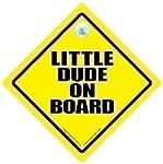 Little Dude On Board Autoschild, Baby...