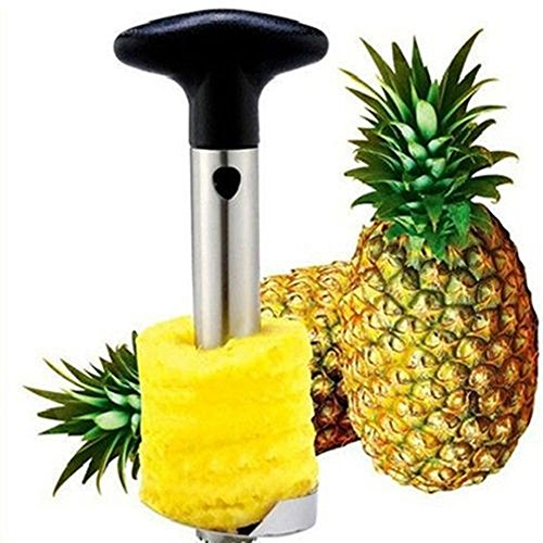 Pineapple Easy Gadget Fruit Peeler Cutter Corer Slicer Cutter Stainless Steel Kitchen (Cylindrical Egg Timer compare prices)