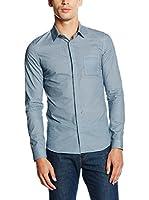 Belstaff Camisa Hombre Blackburn Knurling Print (Cielo)