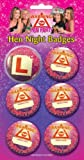 6 Hen Night Party Badges Hen Party Badges