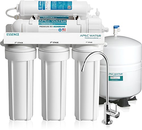 APEC Water Systems ROES-PH75 APEC Water Top Tier, Built In USA, Ultra Safe, Ph+ Alkaline Calcium Mineral Reverse Osmosis Drinking Water Filter System