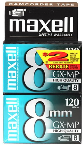 Maxell 6-120 8 mm Camcorder Tapes - 2 Pack