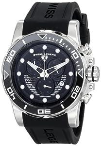 Swiss Legend Men's 21368-01-GRYAB Avalanche Analog Display Swiss Quartz Black Watch
