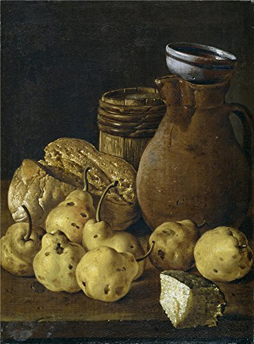 The Polyster Canvas Of Oil Painting 'Melendez Luis Egidio Bodegon Pan Peras Queso Y Recipientes Third Quarter Of 18 Century ' ,size: 16 X 22 Inch / 41 X 55 Cm ,this Best Price Art Decorative Canvas Prints Is Fit For Wall Art Decor And Home Decoration And Gifts (Upright Desk Calendar 2015 compare prices)