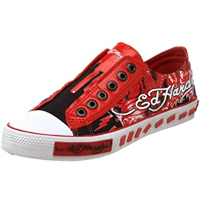 Ed Hardy Women's Lowrise Van Nuys Fashion Sneaker,Red-10fvn104w,5 M US