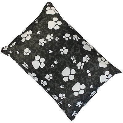 Linens Limited Paws Dog Pet Bed, Black, Medium