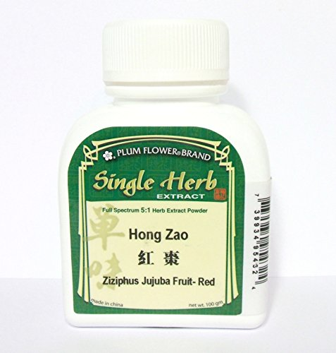 Red Jujube Fruit Herb Extract Powder / Hong Zao / Ziziphus Jujuba, 100g or 3.5oz (Plum Flower Central Chi compare prices)