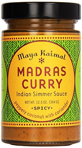 Maya Kaimal All Natural Indian Simmer Sauce - Madras Curry - 12.5 oz (Indian Curry Simmer Sauce compare prices)