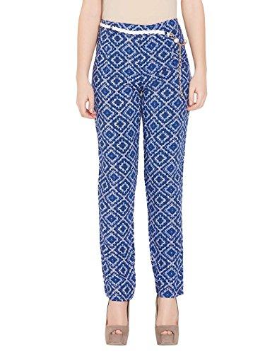 Deal Jeans Women Cotton Capri Maternity Trousers (13004 _Blue _X-Large)