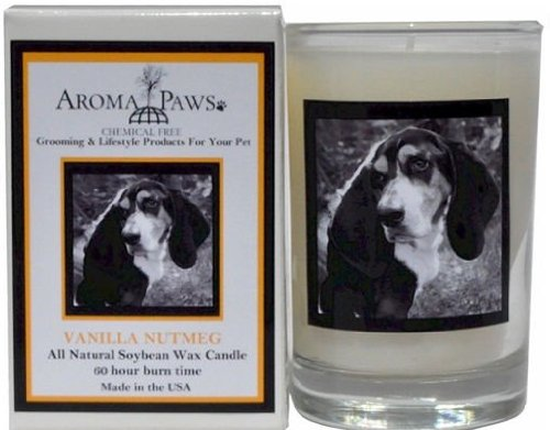 Aroma Paws 336 Breed Candle 5 Oz. Glass-Gift Box - Basset Hound