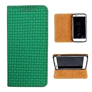 i-KitPit PU Leather Flip Case For Lava Xolo Q700 (GREEN)