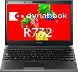 【中古】 ダイナブック dynabook R732/F PR732FAA13BA51 / Core i5 3320M(2.6GHz) / HDD:320GB / 13.3インチ / ブラック