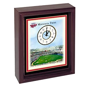 Minnesota Twins Hubert H. Humphrey Metrodome Stadium Colorprint Desk Clock by Unknown