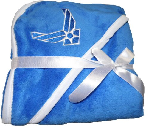 Infant / Baby Air Force Insignia Blue Baby Blanket Soft Fleece front-439065