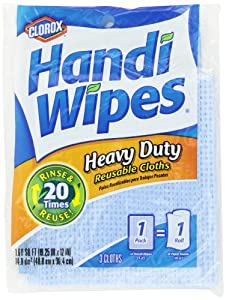 Clorox Heavy Duty Reusable Handi Wipes, 3 Count (Pack of 4) - Colors May Vary
