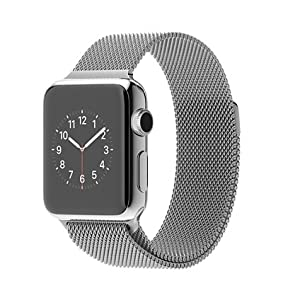 Apple 38 mm Stainless Steel Case Watch with Milanese Loop
