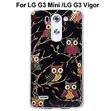 buy Lg G3 Vigor / G3Mini Case, Sophia Shop [Owl Pattern] [Flower Pattern] Ultra Slim Tpu Protective Cover Case Fit For Lg G3 Vigor/ Lg G3 Mini (Night Owl)