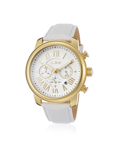 a_line Women's 80163-YG-02 Amor White Genuine Leather Watch
