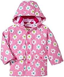 Hatley Baby Flower Heart Garden Infant Raincoat, Flower Heart Garden, 6-12 Months