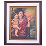 Ajanthaa Arts And Crafts Yasodha Krishna Canvas Oil Painting - (58.42 Cm X 48.26 Cm X 3.81 Cm)