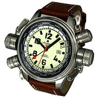 [エアロマチック1912]aeromatic1912 腕時計 ドイツ製パイロットDEFENDERワールド?ツアー GMT アラーム A1326【並行輸入品】