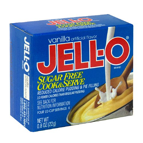 Buy Jell-O Cook & Serve Pudding & Pie Filling, Sugar-Free, Fat Free, Vanilla, 0.8-Ounce Boxes (Pack of 24) (JELL-O, Health & Personal Care, Products, Food & Snacks, Baking Supplies, Pie & Cobbler Fillings)