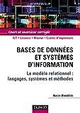 echange, troc Nacer Boudjlida - Bases de données et systèmes d'information : Cours et exercices corrigés