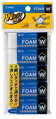 サクラクレパス フォームイレーザーダブル5個組 RFW100-5P