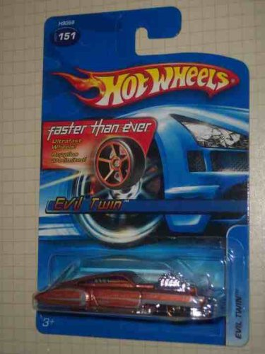 #2005-151 Evil Twin Faster Than Ever Wheels Collectible Collector Car Mattel Hot Wheels