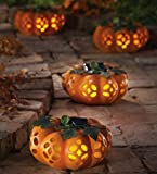 Solar Lighted Decorative Garden Pumpkin