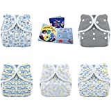 Thirsties Ocean Collection Duo Wrap Snap Diaper, Fin, 2