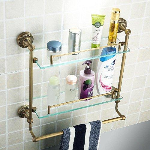 GS~LY Alluminio di spazio asciugamano rack bronzo asciugamano rack da bagno accessori-come doppi vetri