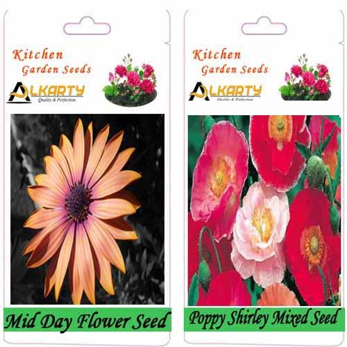 Alkarty Mid Day And Poppy Shirley Mixed Flower Seeds Pack Of 20 (Winter)